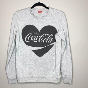 Coca-Cola heart sweatshirt top size medium